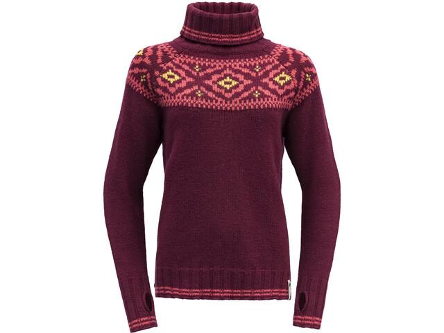 Devold Ona Round Suéter Mujer, beetroot